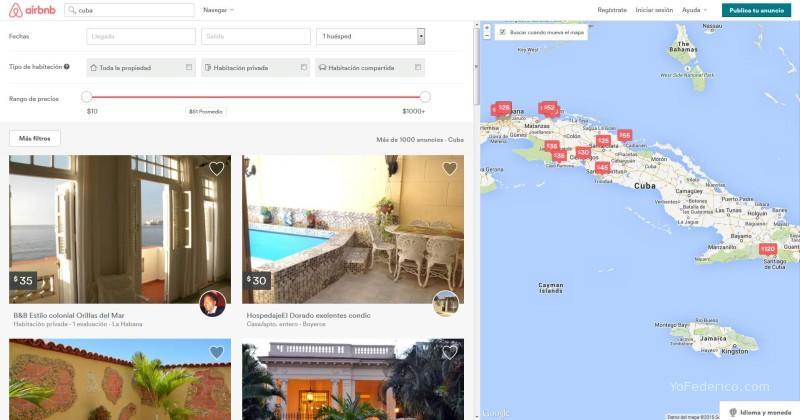 Airbnb en Cuba