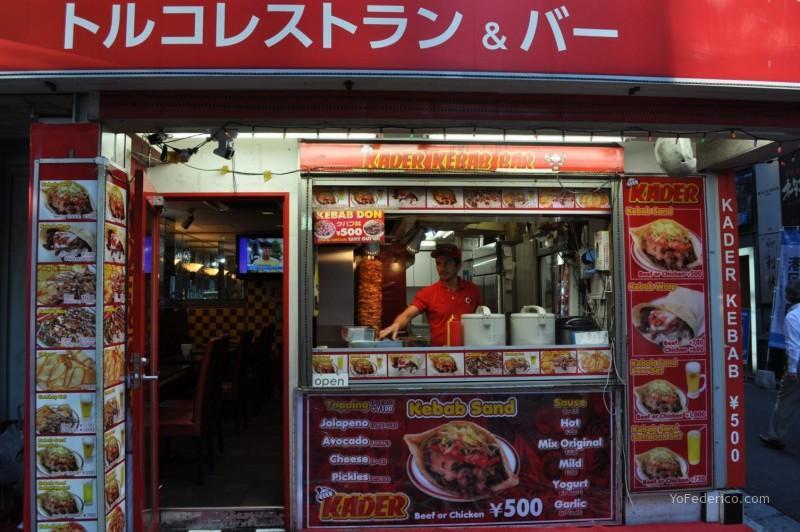 Kebab al paso en Tokyo