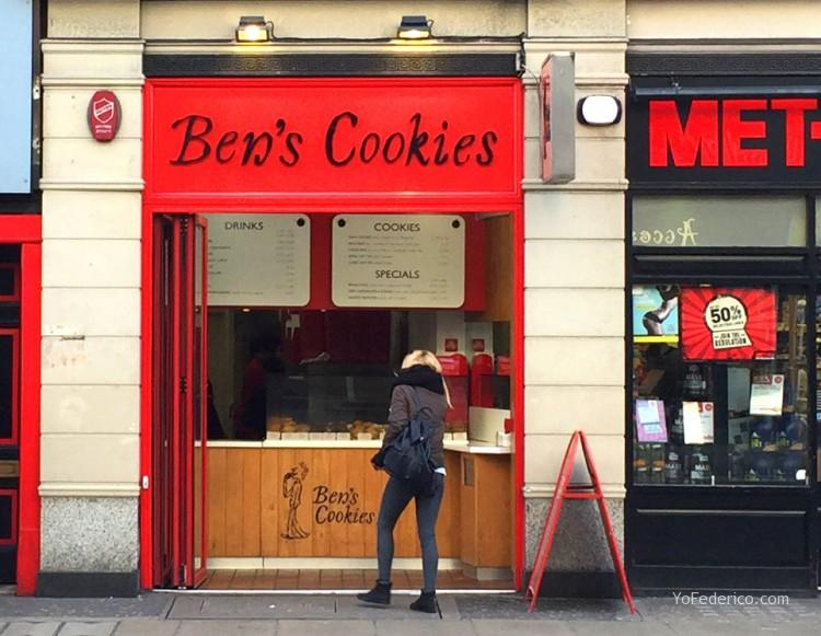 Galletas de Ben´s Cookies en Londres