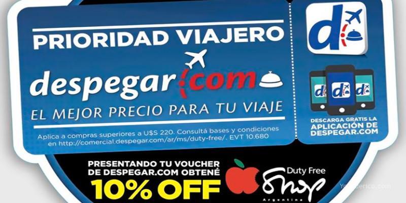 Voucher 10% OFF de Despegar.com.ar para el Duty Free Shop Argentina
