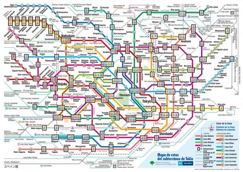 Mapa 2015 del Metro de Tokyo