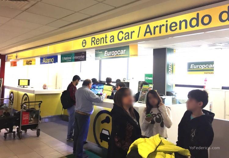 alquiler de auto en aeropuerto de santiago chile