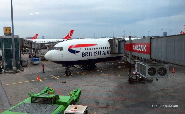 Vuelo con British Airways de Estambul a Londres 1