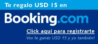 USD 15 de descuento en Booking.com - Click aquí -