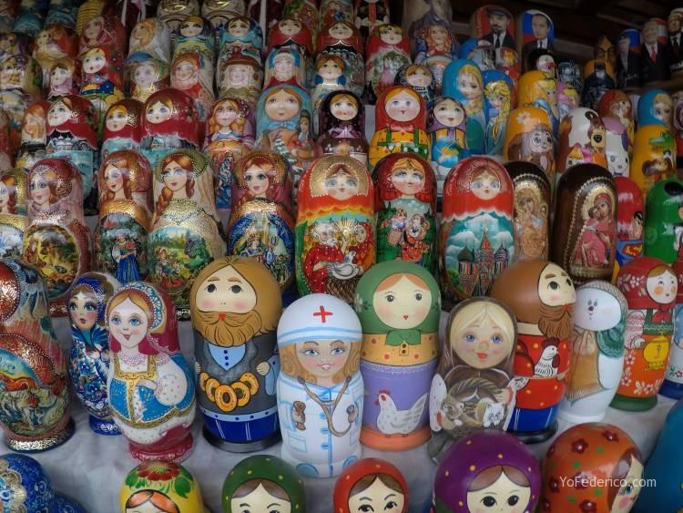 Todas las mamushkas del mercado Izmailovo de Moscú 1